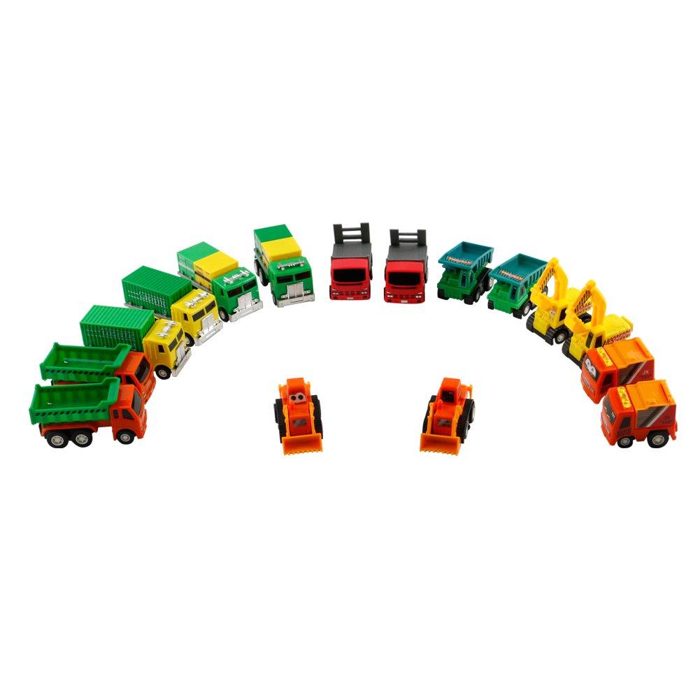 16pcs Vehiculos Juguete Coches Colección Vehiculos Infantiles Coches de Niñas Coche Carreras para Niñas y Niños