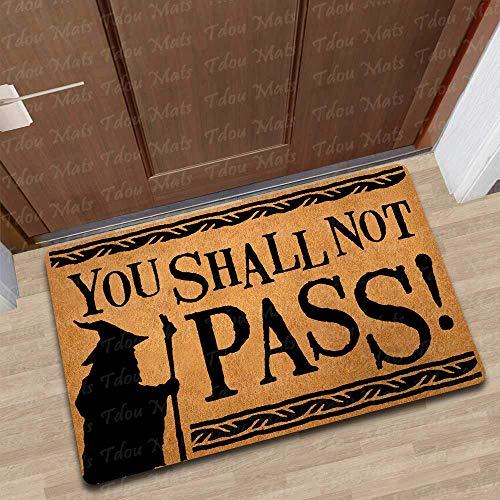 THE LORD OF THE RINGS YOU SHALL NOT PASS DOOR // FLOOR MAT DOORMAT