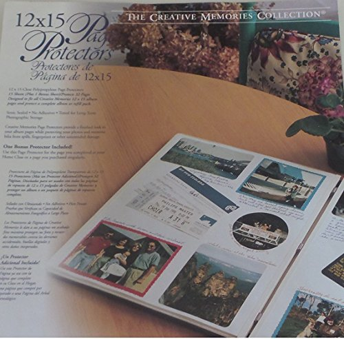 Creative Memories 12 X 15 Page Protectors New Pack of 16
