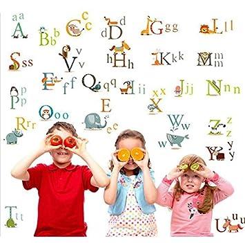 Wandtattoo Lernhilfe Sticker Alphabet Schule Wandbild Buchstaben  Kinderzimmer(3E 3)