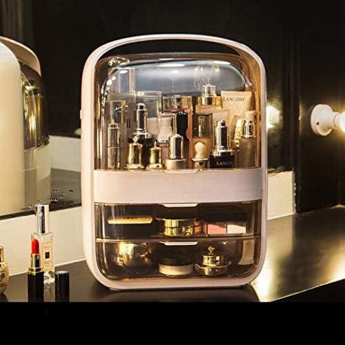 コスメボックス メイクボックス 大容量メイクケース 化粧品収納ケース 小物入れ 口紅収納 ファンデーション 防塵 防水 強い耐久性 テーブル整理 コスメ収納 XL:30*20*40cm L:26*18*36cm ホワイト ピンク