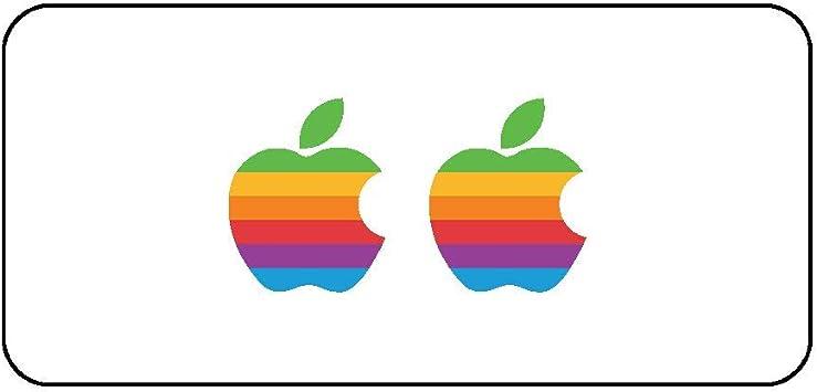 Pack de 2 pegatinas con el logotipo de Apple en diseño retro para ...
