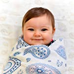 Muslin-Swaddle-Blankets-for-Newborn-Baby-Girls-Unique-Pink-Floral-Paisley-Design-with-Woodland-Creatures-incl-Fox-Bear-Bunny-Rabbit-Mix-Pack-with-Both-Cotton-and-Bamboo-XL-47inches-3-Pack