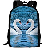 ZQBAAD Swan Love Luxury Print Men And Women's Travel Knapsack