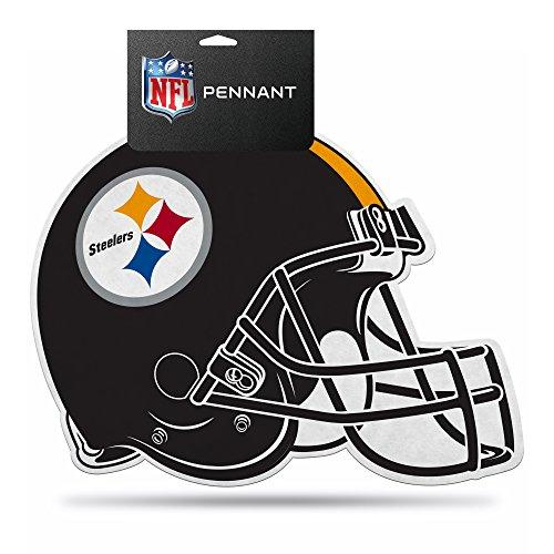 NFL Steelers Die Cut Helmet with Header (Pittsburgh Steelers Helmet Decal)
