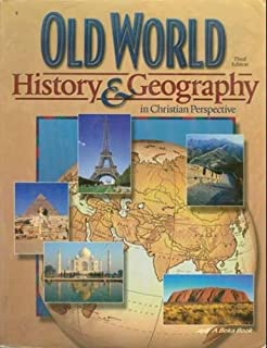 Old world history geography grade 5 abeka 2009 history series old world history geography in christian perspective 3rd edition gumiabroncs Gallery