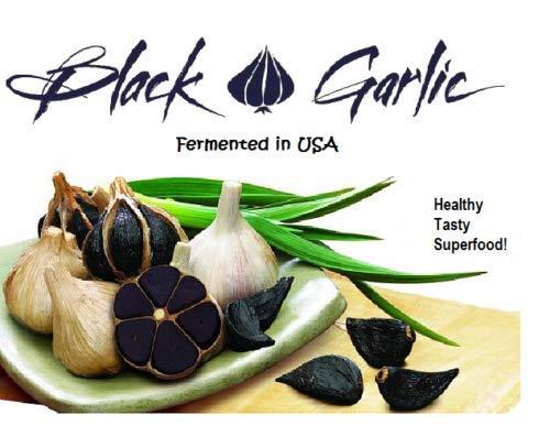- 16 oz Black Garlic USA Sweet Super Colossal Whole Bulbs Heart Energy Antioxidant