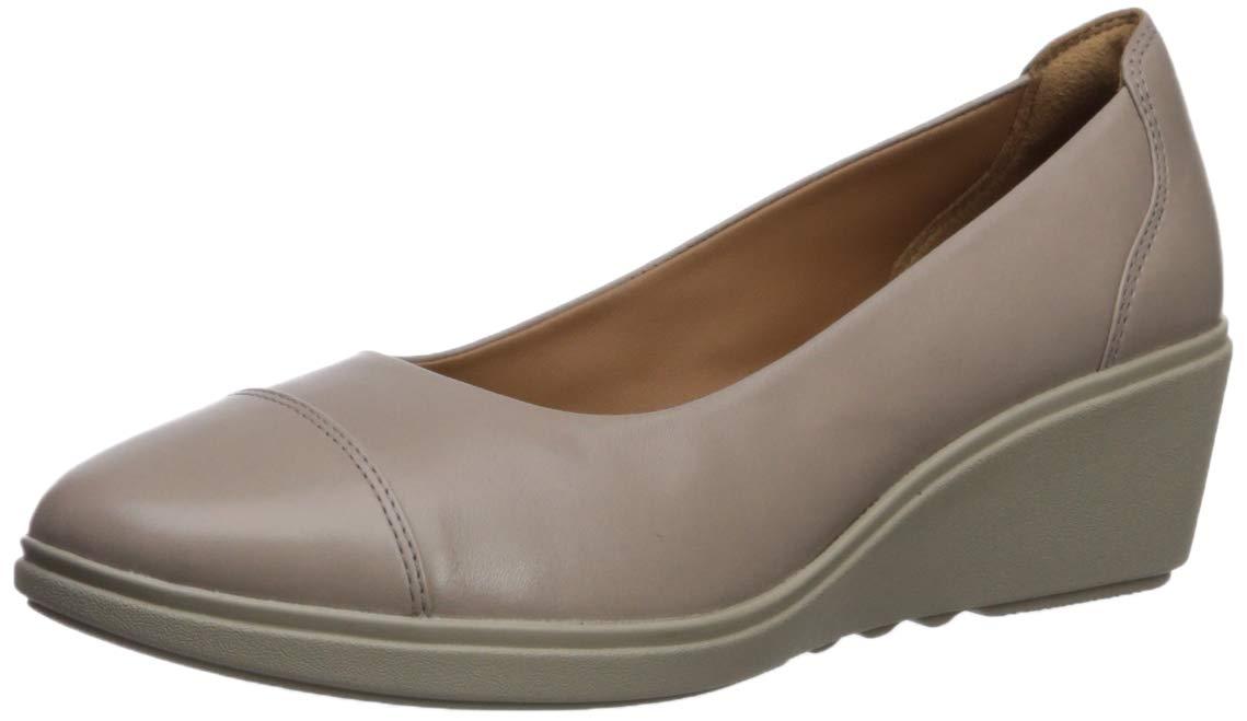 CLARKS Women's Un Tallara Dee Platform, Grey Leather, 8.5 M US by CLARKS
