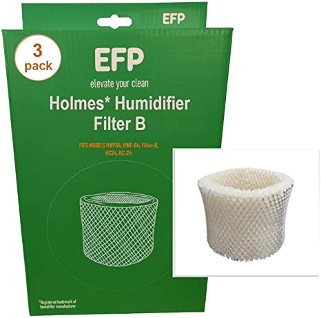 Wick Filter Type B for Sunbeam Humidifier or Holmes HWF64 Replacement 1 to 4 pcs
