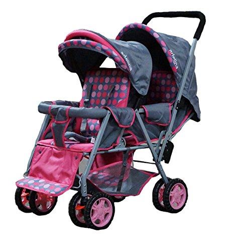 ADELINA Designer Double Stroller, Pink by ADELINA