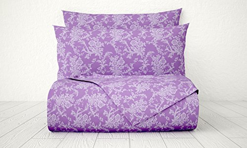 Xara Luxury 33233 4 Piece Damask 1800 Series Printed Cotton Essential Embossed Tone on Tone Bed Sheet Set, Full, - New Macys Jersey In