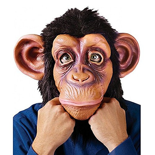 Halloween Latex Chimp Mask Monkey Animal Head Cosplay Party Costume (Zombie Chimp Child Costumes)