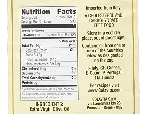 Colavita Extra Virgin Olive Oil (3 Liter), 101.4 fl ounce by Colavita (Image #1)