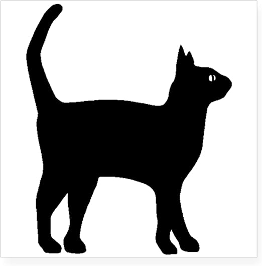 Cat Head Back Silhouette Sticker Car Window Bumper Wall Removable Vinyl Decal