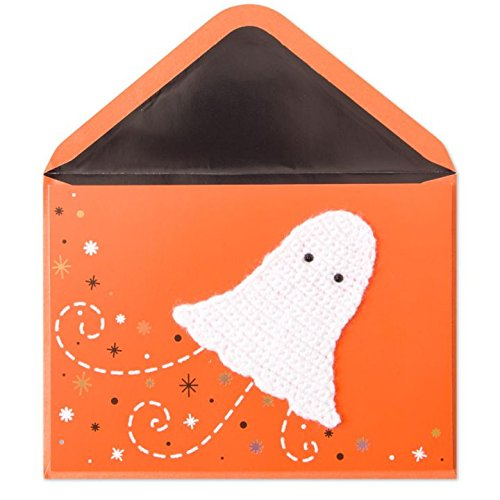 PAPYRUS HALLOWEEN CARD WHITE CROCHET GOST]()