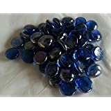 1kg (approx 230) Decorative Round Cobalt Blue Glass Pebbles..15-20mm
