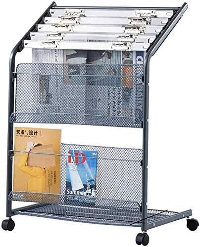 LILIS Cajonera para documentos,archivador Estante de almacenamiento de CD DVD Revista Periódico Rack, A4 vertical en el suelo del álbum de la propaganda del estante de la tienda de exhibición comercia: Amazon.es: