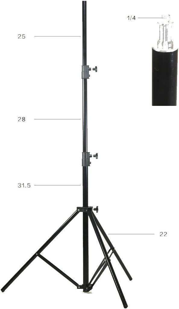 Falcon Eyes LED Photographic Light Stand for RX-18T//RX-12T//RX-18TD//RX-12TD Roll-Flex LED Light or Relfectors Lights,Umbrellas Softboxes 2.6M Light Stand Backgrounds etc