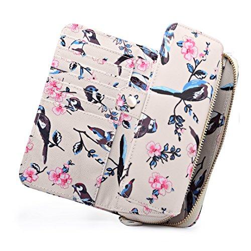 Body Satchel Bird Satchel Oilcloth Purse 6682 Beige Bag Lulu 6640 Bird Handbag Purse Matching Flower Bird 16 Ladies Cross Saddle Miss Messegner TIBw8qYETn