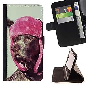 KingStore / Leather Etui en cuir / Sony Xperia Z3 Compact / Rhodesian Ridgeback perro Vizsla