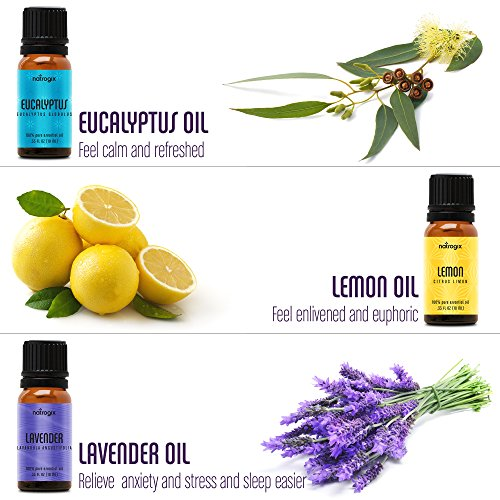 Natrogix Nirvana Essential Oils - Top 18 Essential Oil Set 100% Pure Therapeutic Grade 18/10ml Incl. Lavender, Moroccan Rosemary, Tea Tree, Eucalyptus, Lemongrass and 13 More w/Free E-Book by Natrogix (Image #5)