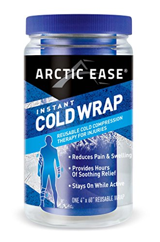 "Arctic Ease Reusable Instant Cold Wrap, Large Size, Measures 4"" X 60"", Sized for Large Joints/Muscles Including Hamstring, quads, Thigh, Shoulders, Knees and Hips, Blue by Arctic Ease"