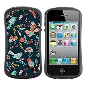 Pulsar iFace Series Tpu silicona Carcasa Funda Case para Apple iPhone 4 / iPhone 4S , Motif Fleurs d'été