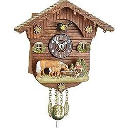 Trenkle Uhren Cuckoo Clock Kuckulino Quartz-Movement Black Forest Pendulum Clock-Style 15cm