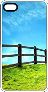 Meadow Fence White Plastic Case for Apple iPhone 5 or iPhone 5s
