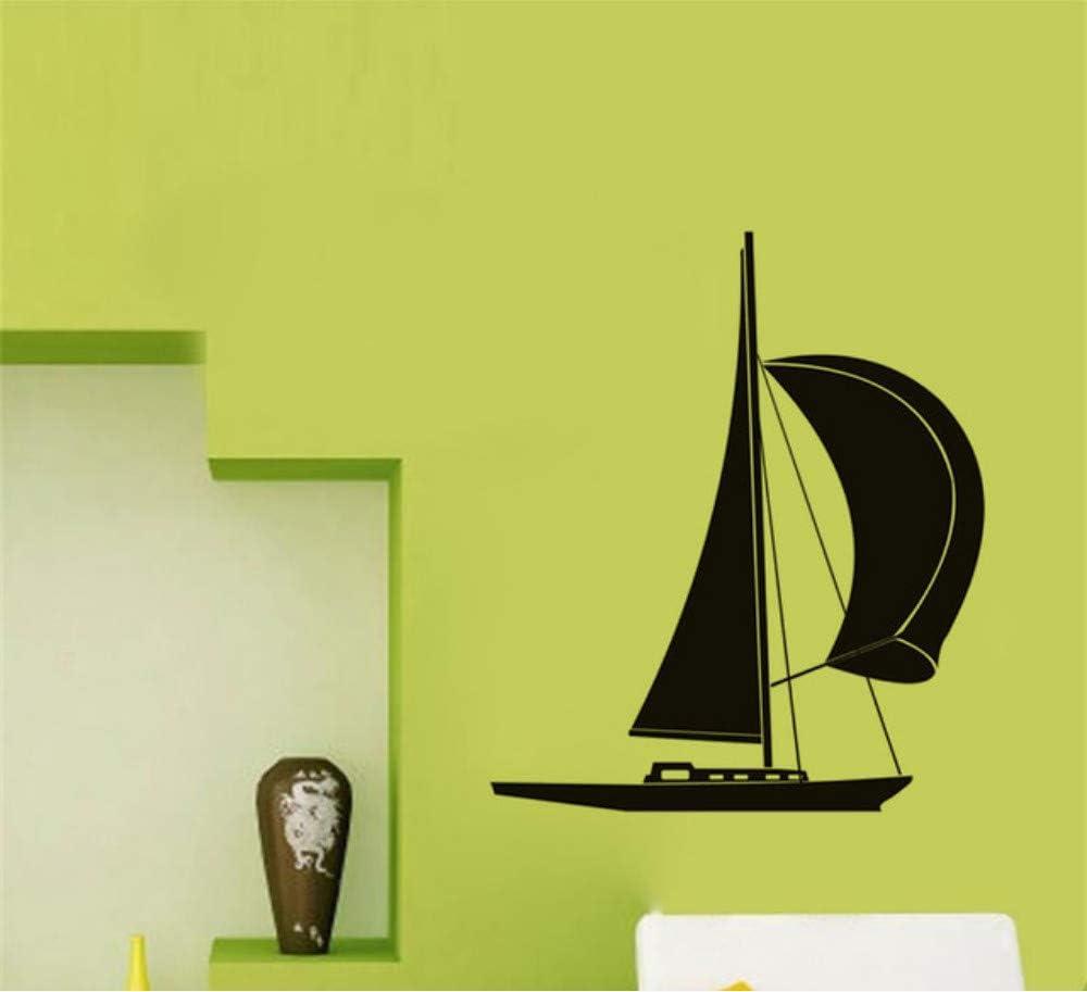 Pequeño barco de vela pegatinas de pared extraíble impermeable ...