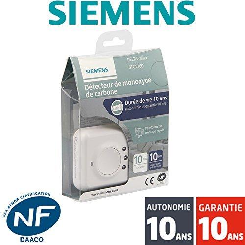 Siemens - Détecteur De Monoxyde De Carbone (Co) Nf Siemens Delta