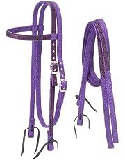 Tough-1 Nylon Browband Headstalls and Reins w/Printed Zebra Overlay