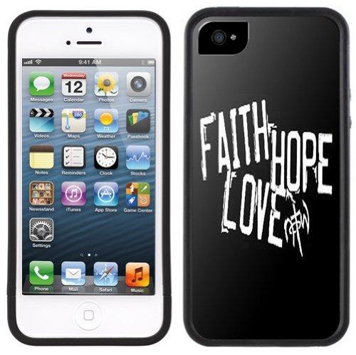 Faith Love Hope | Chrétien | Fait à la main | iPhone 5c | Etui Housse noir