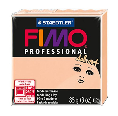 Staedtler Fimo Professional Doll Art Clay, 3-Ounce, Cameo - Clay Doll Making