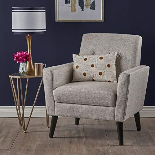 Christopher Knight Home 303244 Sierra Mid Century Beige Fabric Club Chair,