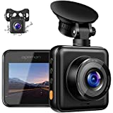 APEMAN Dual Dash Cam for Cars Front and Rear with Night Vision 1080P FHD Mini in Car Camera 170° Wide Angle Driving Recorder with G-Sensor, Parking Monitor, Loop Recording, WDR