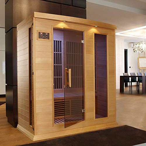 Cheap Maxxus 3 Per Low EMF FAR Infrared Carbon Canadian Hemlock Sauna
