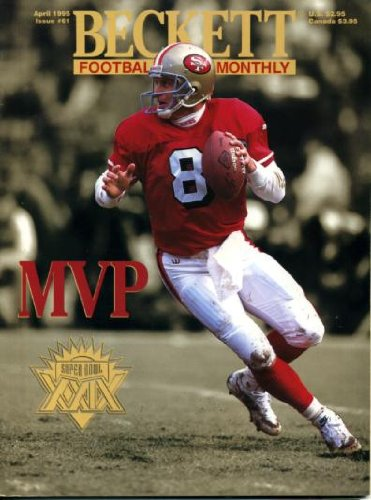 Beckett Football Monthly April 1995 Joe Montana/San Francisco 49ers on Cover (Super Bowl XXIX MVP), Brett Favre, Daryl Johnston/Dallas Cowboys, Dan Fouts, Errict Rett/Tampa Bay ()