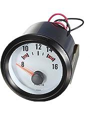 TOOGOO 2 Pulgada 52mm Esfera de Voltimetro del Coche 8-16V Voltimetro Indicador de Voltaje