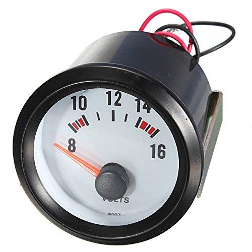 Volt Gauge de voiture - SODIAL(R)2' 52mm Metre de cadran d'Auto 8-16V Voltmetre pointeur tension volts jauge lumiere LED bleue 060882A1