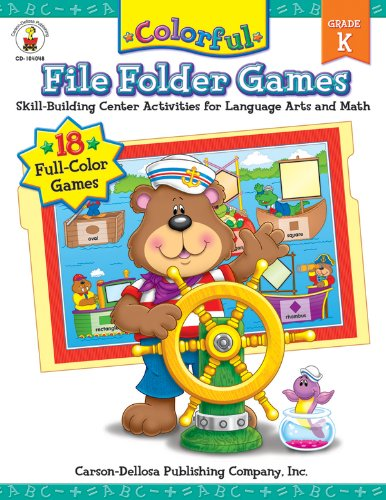 Colorful File Folder Games, Grade K: Skill-Building Center Activities for Language Arts and Math (Colorful Game Books)