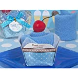 Cassiani Sweet Treats Collection Blueberry Cupcake Towel Favor - 60 Pieces