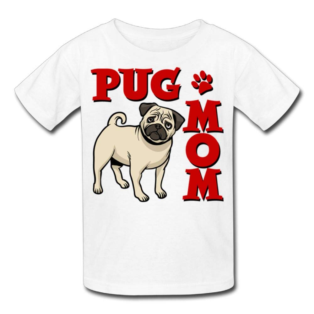 Short-Sleeve Tshirt Pug Mom 9 Youth Girl
