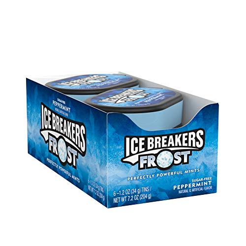 ICE BREAKERS Frost Sugar Free Mints, Peppermint, 1.2 Ounce (Pack of 6) ()