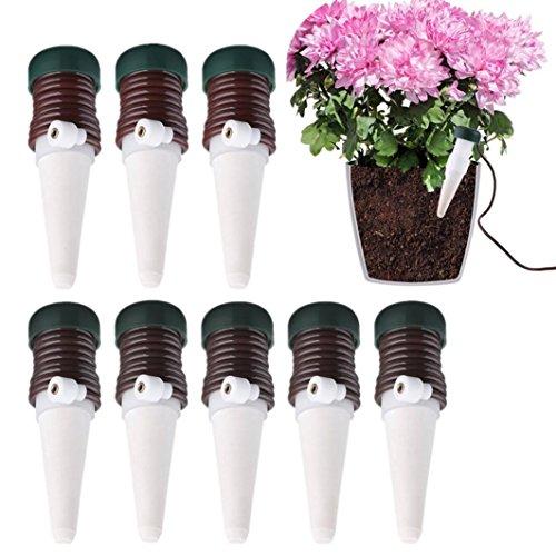 UMFun 10Pcs Indoor Plants Automatic Drip Irrigation Watering System Flower Pot Waterer Tool (8 Pcs)