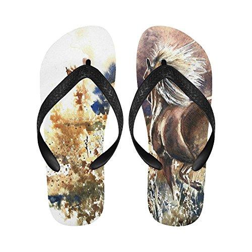 Sandali Da Spiaggia Infradito Con Pittura A Olio A Forma Di Cavallo Da D-story Per Uomo / Donna