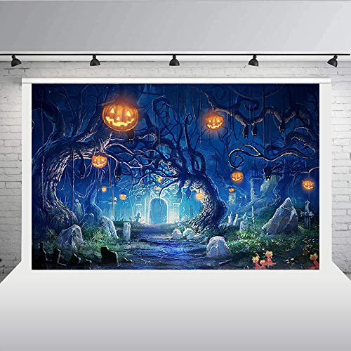 Aisnyho Halloween Backdrops Pumpkin Photography Backdrops for Party