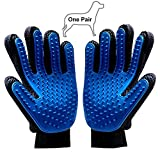 Pet Grooming Gloves, Gently Deshedding Brush with Five Fingers Design, MEETWIN Pet-Friendly Hair