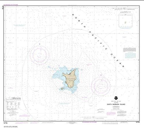 NOAA Chart 18756-Santa Barbara Island- Water-Resistant - by East View Geospatial