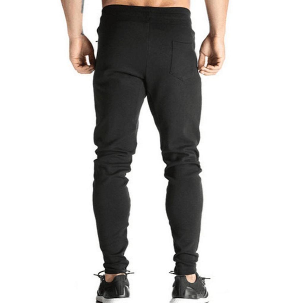 Longra Pantalón para Hombre, Hombre Chandal Bottoms Ropa De Deporte Delgado Ajuste Formación Pantalones Casual Trotar…